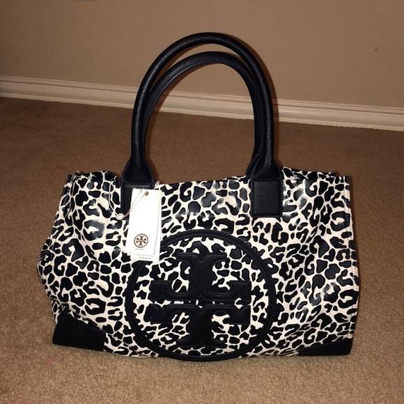 e37e53cae2b 🌸TORY BURCH 🌸ELLA LARGE TOTE LEOPARD PRINT bag